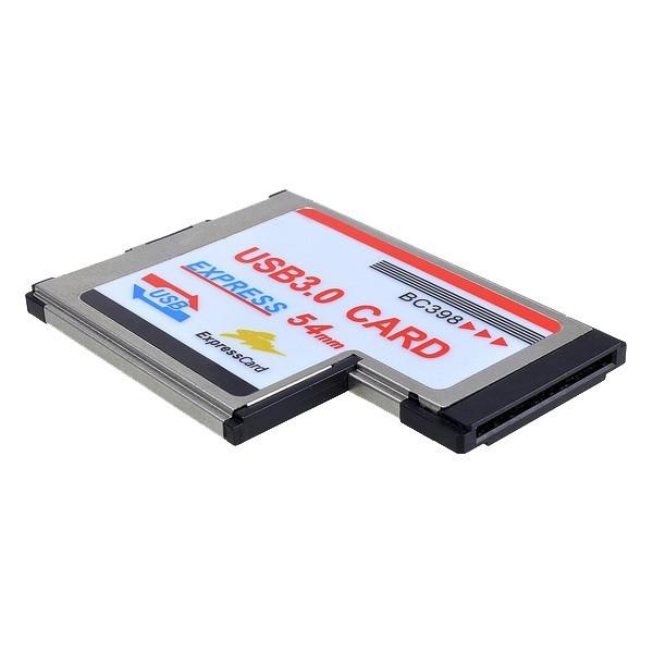 Express Card Expresscard 54mm To Usb 3 0x2 Port Adapter