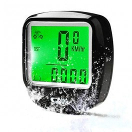 Waterproof Bike Bicycle Cycle Multi-function Computer LED Odometer Speedometer