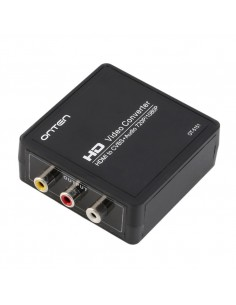 Conversor HDMI para Vídeo Composto / RCA / AV / TV Preto