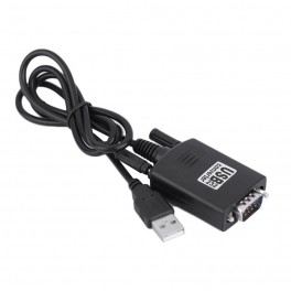 Black USB 2.0 to Serial RS232 DB9 9Pin Adapter Converter Cable for Win 7 TK