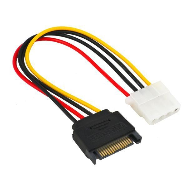15 Pin Sata Male To Molex Ide 4 Pin Female Adapter