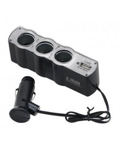 Tripla isqueiro + Carregador USB p/ carro