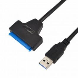 """Cabo Adaptador Conversor USB 3.0 para SATA 22 pinos para disco rígido 2.5"""""""