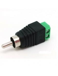 Adaptador RCA Macho para cables Audio DC
