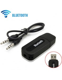 Adaptador Receptor Áudio Stereo Bluetooth Wireless USB + 3.5mm