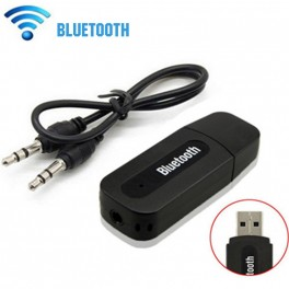 Adaptador Receptor Audio estéreo Bluetooth Wireless USB + 3.5mm