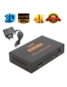Splitter Amplifier HDMI 1x4 ports w/ HDCP + 3D