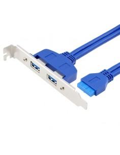 Adaptateur 2 ports USB 3.0 avec support PCI pour carte mère de 20 pinos