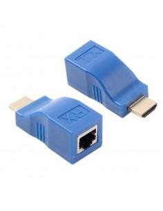 Extensor HDMI via 1x Cabo de Rede UTP CAT5E/6 até 30M