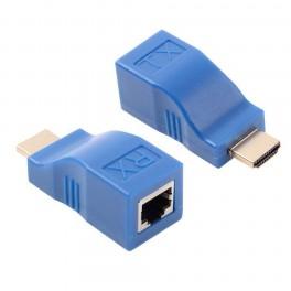 Extender HDMI via 1x câble réseau CAT5E / 6 UTP jusqu'à 30M