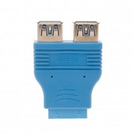 Adaptador Motherboard de 20 pinos para 2x USB 3.0 Fêmea