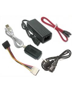 Adaptador USB p/ SATA, IDE 2.5 e 3.5 c/ Cabos Corrente