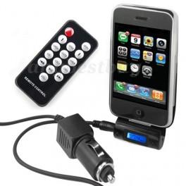 Mini Transmissor FM + Comando + Carregador para iPOD