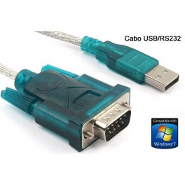 Cabo Adaptador USB para RS232 Porta Serial 9 Pinos DB9
