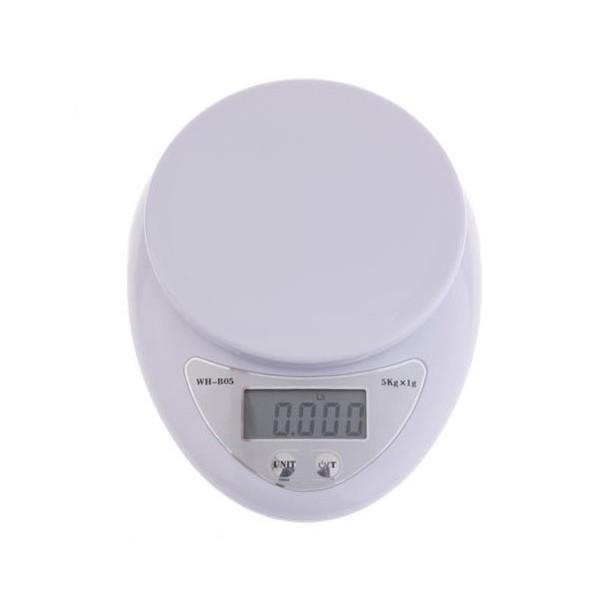 Bascula balanza de cocina digital de 1g 5kg 5000g for Balanza cocina 0 1 g