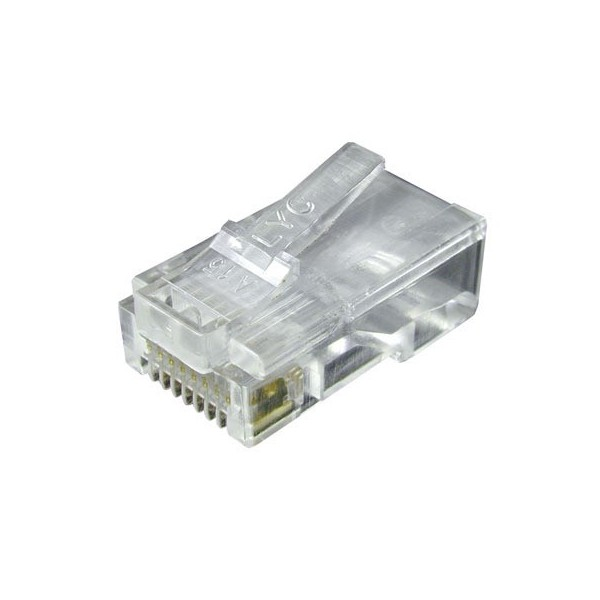 8 Pins Network Cable Modular Plug Head Rj45 8p8c Cat5e
