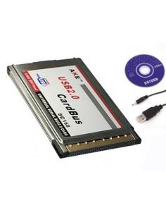 Adaptador 2 x USB / PCMCIA CardBus 480M para portátil