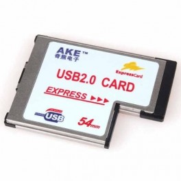 Placa ExpressCard 54mm 2 x USB 2.0 / Express Card