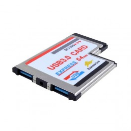 Express Card Expresscard 54mm to USB 3.0x2 Port Adapter