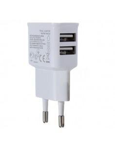 Carregador Dupla USB de parede para iPHONE, iPOD, MP3