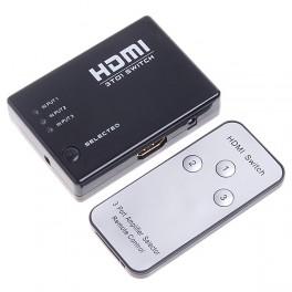 3x1 HDMI Switcher con control remoto infrarrojo