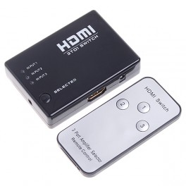 3x1 HDMI Switcher With IR Remote Control Support 3D