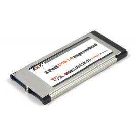 Express Card Expresscard 34mm to USB 3.0x2 Port Adapter